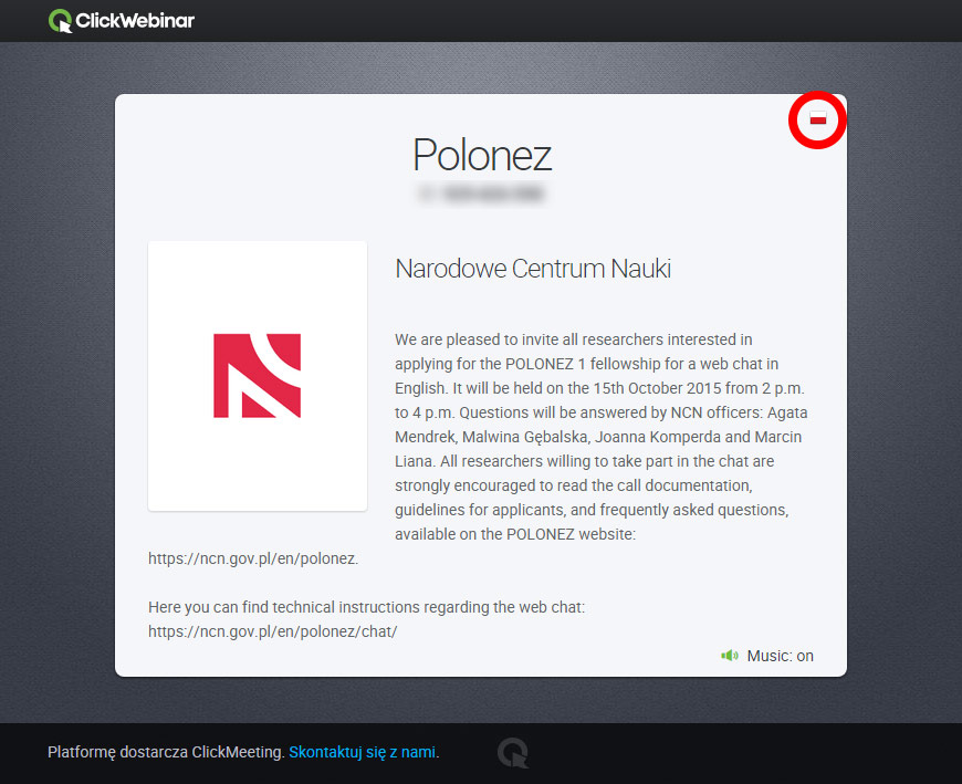 Technical Instructions For The Web Chat Polonez National Science
